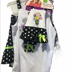 """""""Dollie and Me"""" Matching Skirt Set Outfit."""